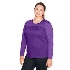 Champion Long Sleeve Crew Neck T-Shirt-Womens Plus