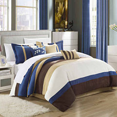 Chic Home Cathy Micro Suede 11-pc. Midweight Comforter Set