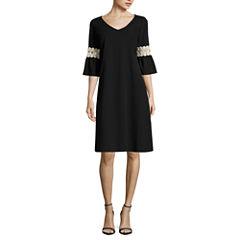 Tiana B 3/4 Sleeve Sheath Dress-Talls