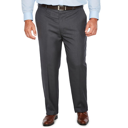 Stafford Stretch Flat Front Pants-Big and Tall