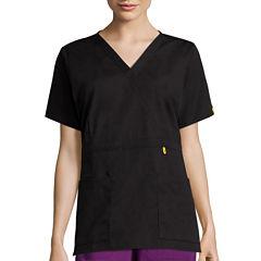 WonderWink® Womens Short-Sleeve Peek-A-Boo Pocket Top