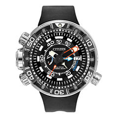 Citizen® Eco-Drive® Promaster Aqualand Mens Black Silicone Dive Watch BN2029-01E