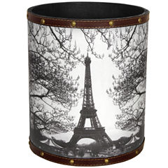 Oriental Furniture Eiffel Tower Waste Basket