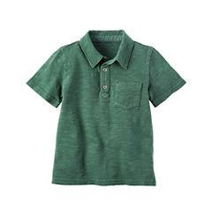 Carter's Short Sleeve Knit Polo Shirt - Toddler Boys