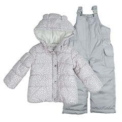 Carter's Heavyweight Leopard Snow Suit-Baby Girls