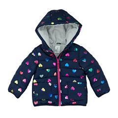 Carter's Midweight Hearts Puffer Jacket - Girls-Preschool