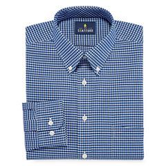 Stafford Stafford Wrinkle Free Oxford Long Sleeve Woven Gingham Dress Shirt