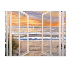 Elongated Window Canvas Wall Art