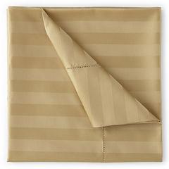 Royal Velvet® 500tc Wrinkle-Free Damask Stripe Sheet Sets and Pillowcases