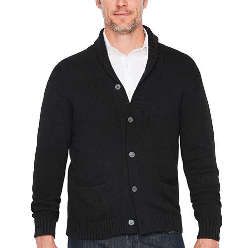 Claiborne Shawl Collar Long Sleeve Cardigan