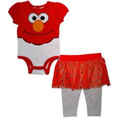 2-pc. Sesame Street Bodysuit Set-Baby Girls