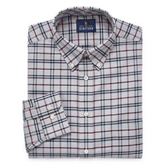 Stafford Travel Wrinkle-Free Oxford Long Sleeve Woven Pattern Dress Shirt Big & X-Tall