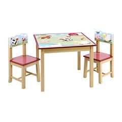 Farm Friends Table & Chairs Set