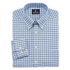Stafford® Long-Sleeve Wrinkle-Free Oxford Travel Dress Shirt
