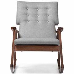 Baxton Studio Agatha Tufted Rocking Chair