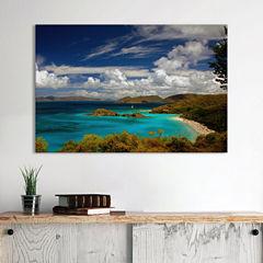 Trunk Bay by J.D. Mcfarlan Canvas Wall Art