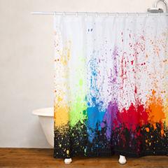Crayola Cosmic Burst No Liner Shower Curtain