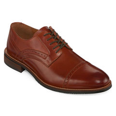Stafford® Murphy Mens Leather Cap-Toe Dress Oxford Shoes