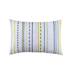 Fiesta Lavida Embroidered Stripe Oblong Decorative Pillow