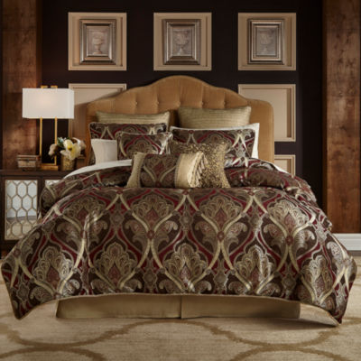 croscill classics royal red comforter set - California King Bedspreads