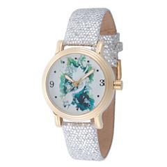 Disney Princess Disney Princess Womens Silver Tone Strap Watch-Wds000177