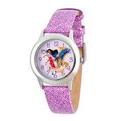 Disney Elena of Avalor Girls Purple Strap Watch-Wds000279