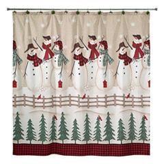 Avanti Snowman Gathering Shower Curtain