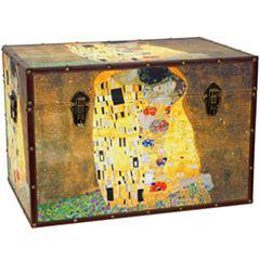 Oriental Furniture Works of Klimt Storage Trunk