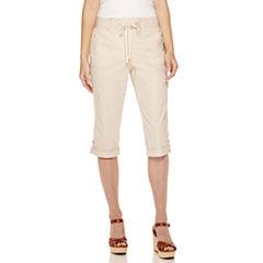Gloria Vanderbilt® Dahlia Knit Relaxed-Fit Capris - Petite