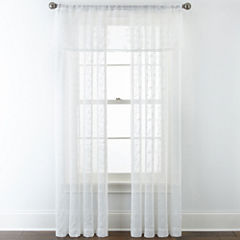 JCPenney Home™ Ingals Rod-Pocket Sheer Window Treatments