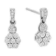diamond blossom 1/10 CT. T.W. Diamond Earrings