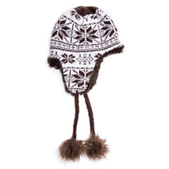 Muk Luks Reversible Faux Fur Trim Trapper Hat