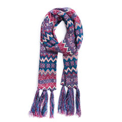 Muk Luks Zig Zag Oblong Knit Cold Weather Scarf