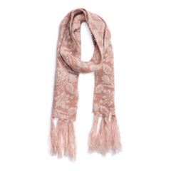 Muk Luks Rose Oblong Knit Cold Weather Scarf