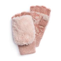 Muk Luks Rose Fingerless Flip Knit Midweight Mittens