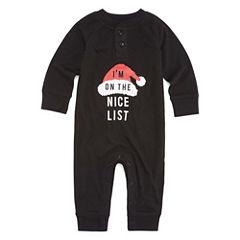 North Pole Trading Co. Checkin' It Twice Microfleece One Piece Pajama-Baby