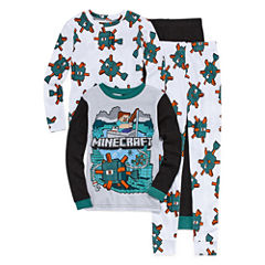 Minecraft 4 PC Pajama Set - Boys