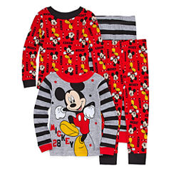 Mickey Mouse 4 PC Pajama Set - Toddler Boys