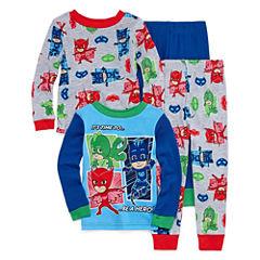 PJ Masks 4 PC Pajama Set - Toddler Boys