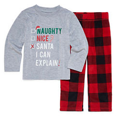 North Pole Trading Co. Checkin' It Twice Flannel Family Pajama Set-Toddler Boy