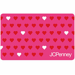 Red and White Hearts Gift Card