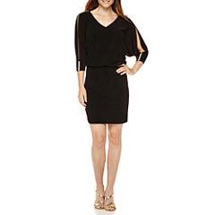 Msk Cold Shoulder Blouson Dress