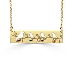 Womens Multi Color Multi Stone 24K Gold Over Silver Pendant Necklace