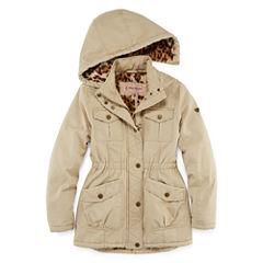 Cotton Twill Anorak Jacket - Girls-Big Kid