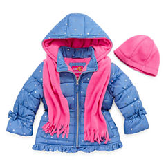 Pink Platinum Heavyweight Puffer Jacket - Girls-Toddler