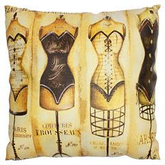 Oriental Furniture Vintage Mannequine Throw Pillow