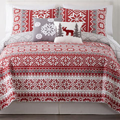 Home Expressions Holiday 3-pc. Quilt Set & Accessories