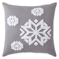 North Pole Trading Company Holiday Snowflake Pillow