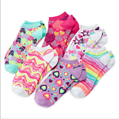 Total Girl® 6-pk. Heart No-Show Socks - Girls 7-16