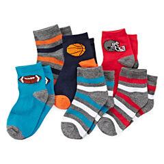 Okie Dokie® Sport 6pk Low-Cut Socks - Boys 2-6